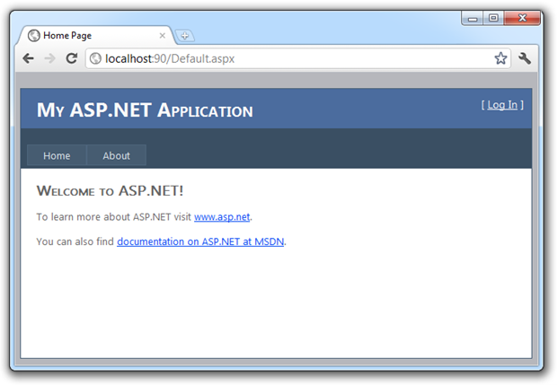 Brand new ASP.NET web application