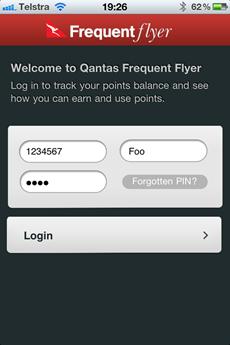 Qantas iPhone app