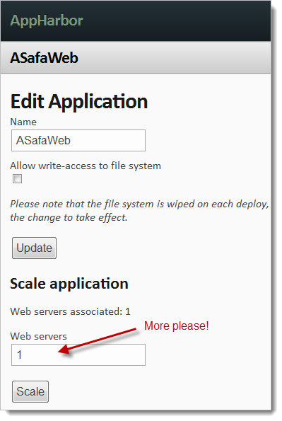 Scaling out AppHarbor with an adiditonal web server