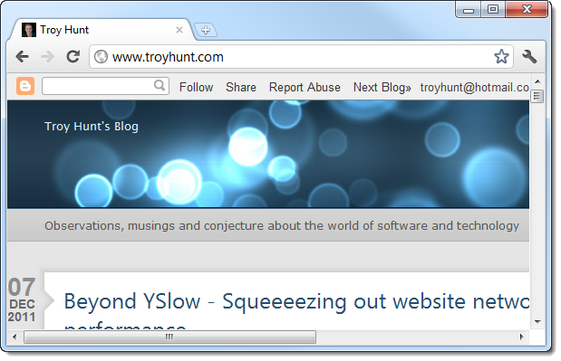 Browser successfully redirected to the target website