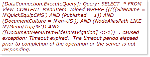 SQL query exposed by ELMAH