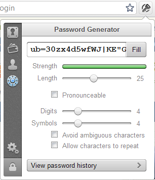 Creating a strong password with 1Password