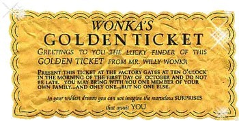 Wonka's golden ticket