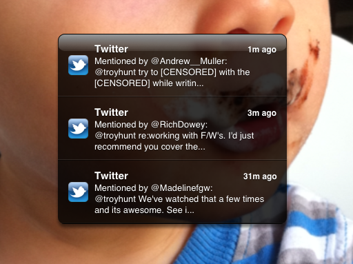 Twitter push notifications coming through the Great Firewall