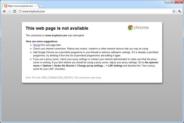 troyhunt.com not loading