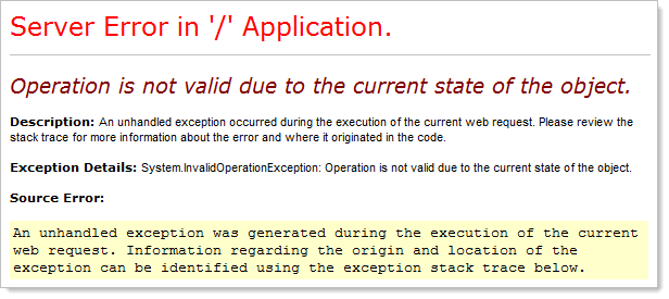 An English custom error message