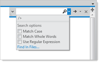 Options on the VS 11 search
