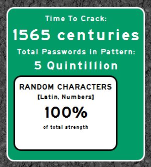 "1565 centuries to crack the password ""00455455mb17"""