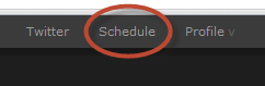 "The ""Schedule"" link in the navigation bar"