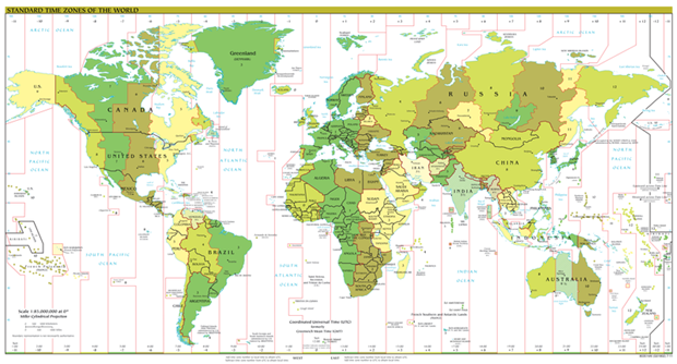 Global time zones