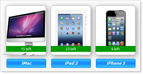 "Apple products that can be ""won"""