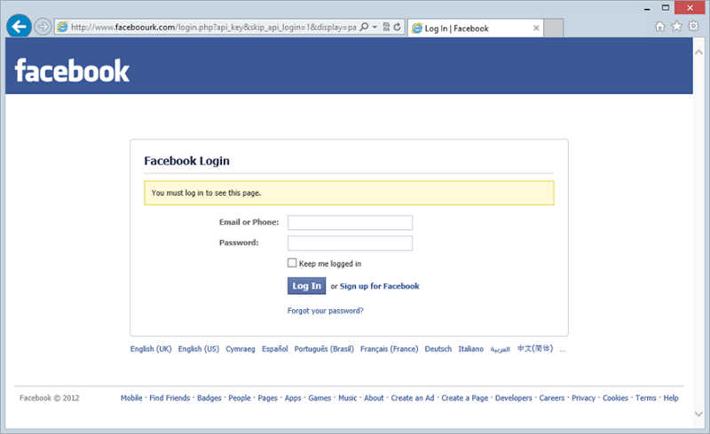 Facebook Full Website Login Not Mobile
