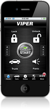 Viper SmartStart app on the iPhone