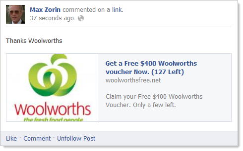 Get a Free $400 Woolworths voucher Now. (127 Left)
