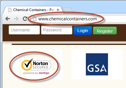Chemical Containers logon with no HTTPS