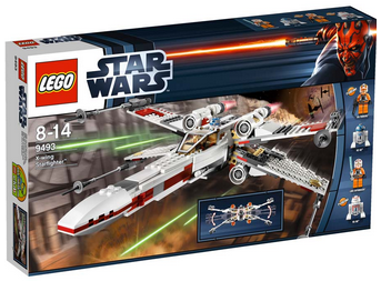 Lego Star Wars X-wing model