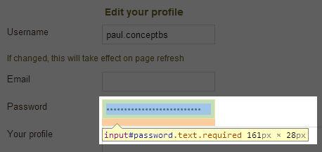 My Dish web interface showing a password field