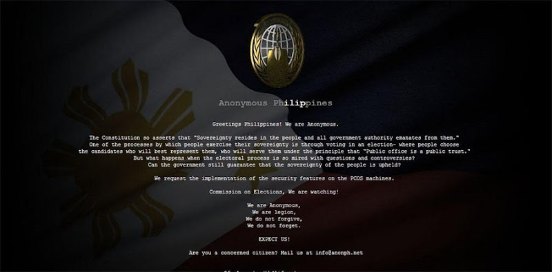 Defaced comelec.gov.ph website