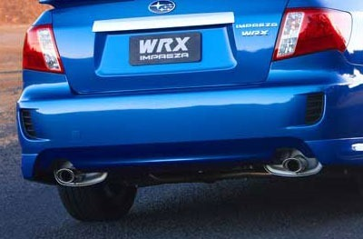 Rear fake vents of a Subaru WRX