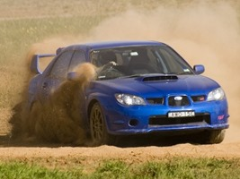 STi at Oran Park dirt motorkhana