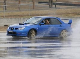 STi at Eastern Creek Skidpan