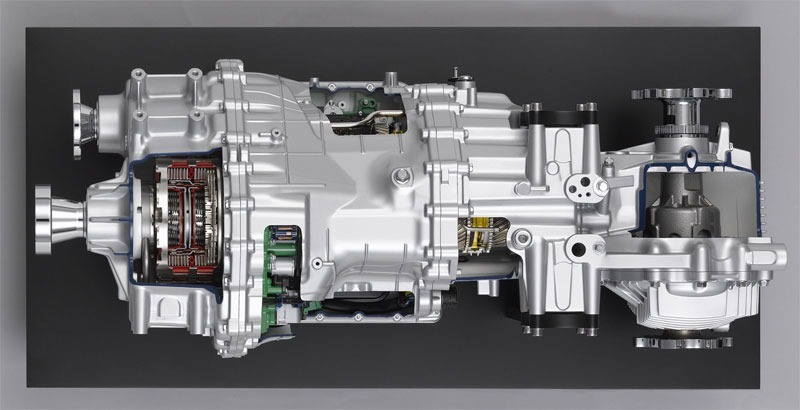Top view of gearbox