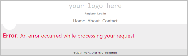 Error. An error occurred while processing your request.
