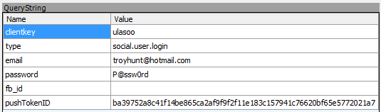 Credentials posted by Lasoo over an insecure connection