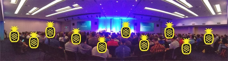 People getting Pineappled at Web Directions South