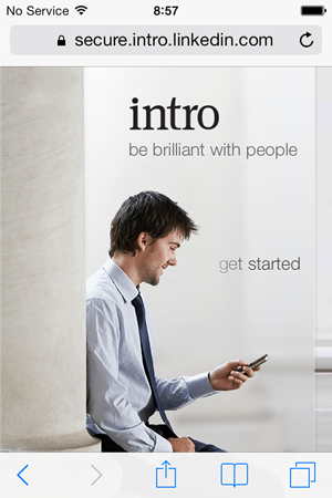 "The Intro website - ""be brilliant with people"""