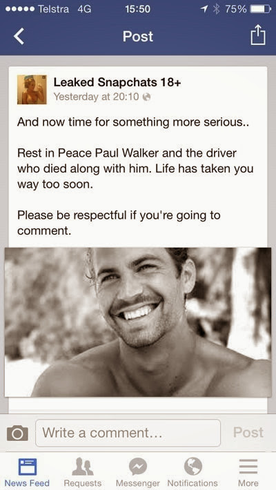 The death of Paul Walker