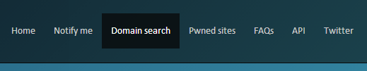Link to domain wide searches on the navigation bar