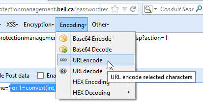 URL encoding the form data