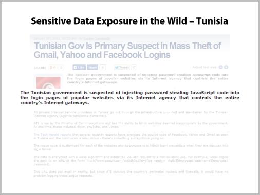 Sensitive Data Exposure in the Wild