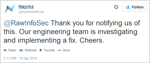 @RawInfoSec Thank you for notifying us of this. Our engineering team is investigating and implementing a fix. Cheers.