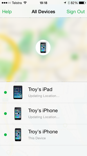 Devices managed by iCloud account