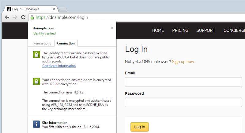SSL - check. Not hard, is it?