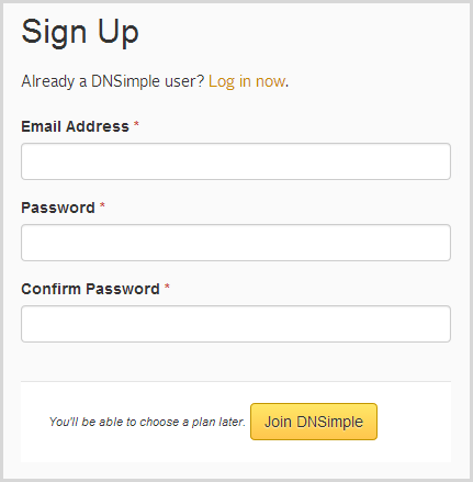 Wait - how can I signup properly if you don't know my revenue and axpected growth?!