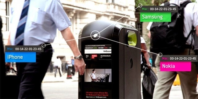 Rubbish bins in London tracking wifi traffic