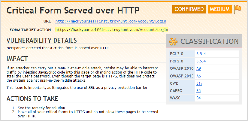 Explanation of a login form being loaded over HTTP but posting to HTTPS