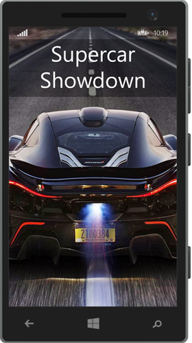 The Supercar Showdown mobile app