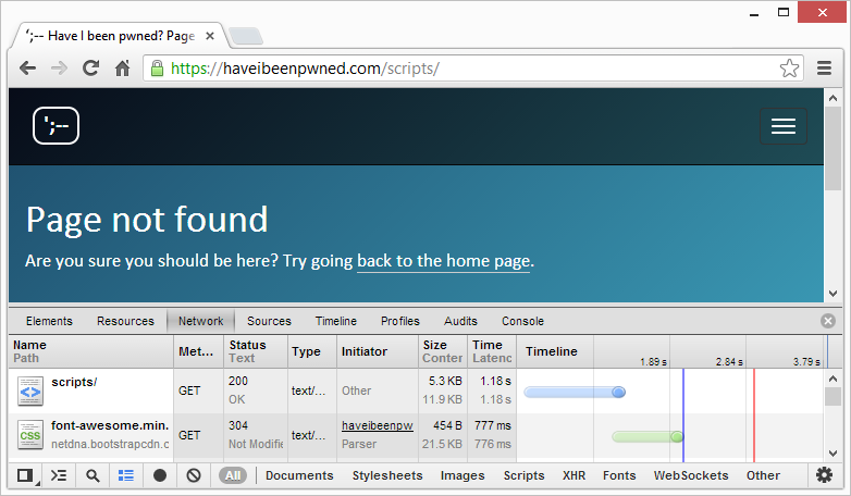 "A ""Page not found"" page after configuring an HTTP error in system.webServer"