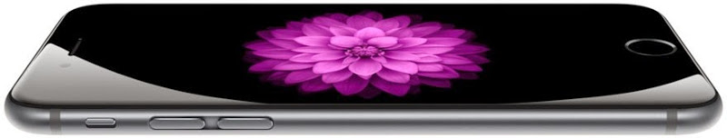 Beautiful curved glass of the 6 Plus front