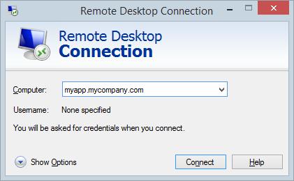 Establishing a Remote Desktop Connection