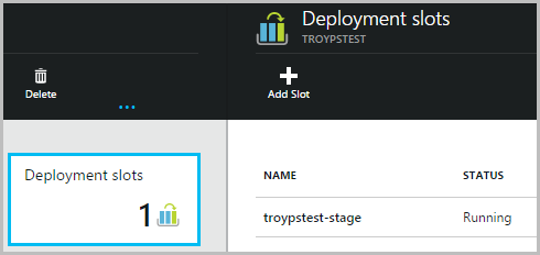 Deployment slot now on the site