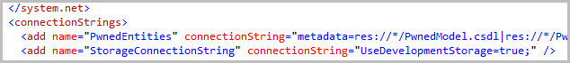 Connection strings in the app