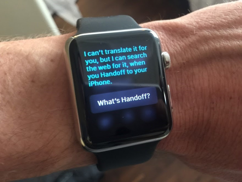 Siri advisin to handoff to the phone