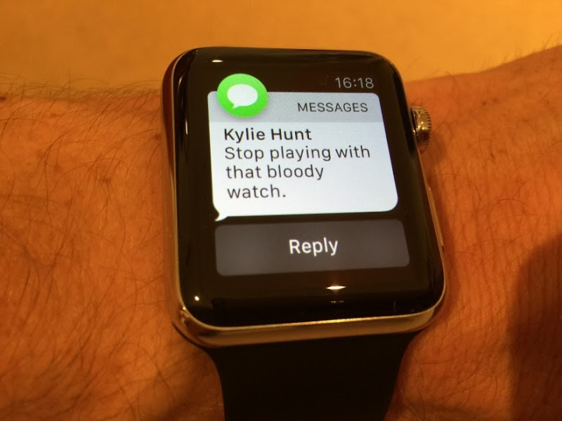 Message from Kylie Hunt: Stop playing with that bloody watch