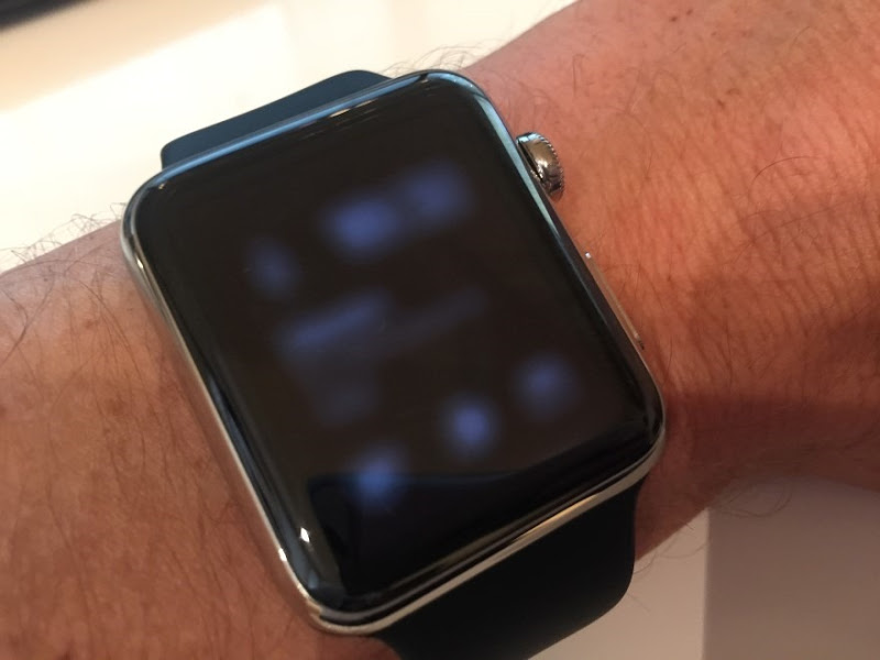 Watch stuck on a partially rendered screen