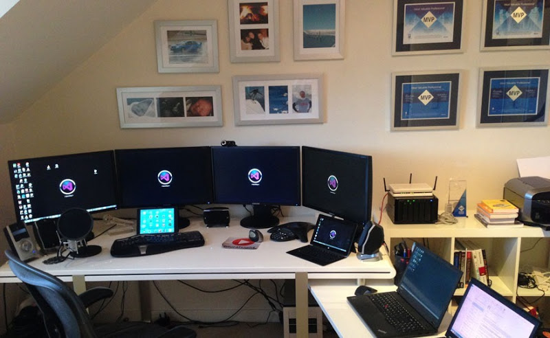 My home office with *many* screens